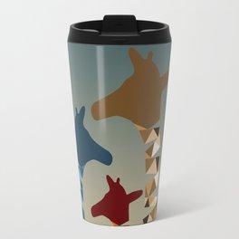 Abstract Colored Giraffe Family Travel Mug