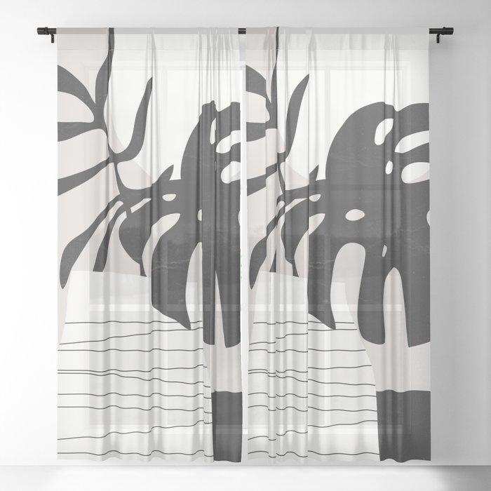 Vase 3 Sheer Curtain