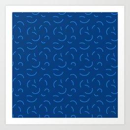Summer Spheres (Blue) Art Print