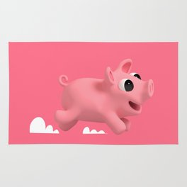 Rosa the Pig running Rug