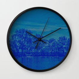 Deciduous blues Wall Clock