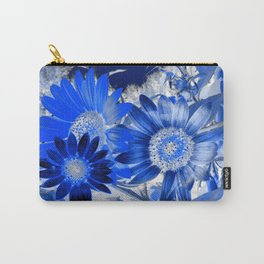 3 Blue Sunflowers Carry-All Pouch