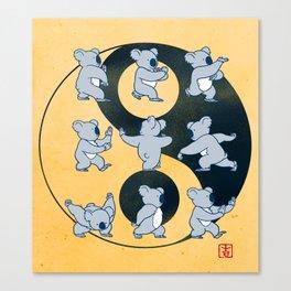 Koala Bear Tai Chi Moves Canvas Print