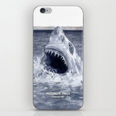 Shark Attacks! ( by Luca Conca for Passenger Press) iPhone & iPod Skin