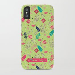 Flowers and Feathers  iPhone Case