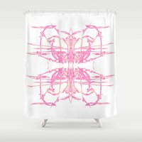 smoke Shower Curtains featuring smoke by AstridJN