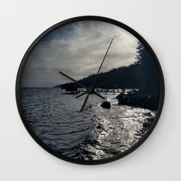 A Stormy Lake Tahoe Day Wall Clock