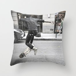 Mid-Air Skater Throw Pillow