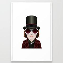 Willy Wonka - Johnny Depp Framed Art Print
