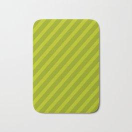 Green Diagonal Stripes Bath Mat