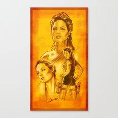Angelina Jolie - Série Ouro Canvas Print