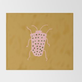 arthropod mustard Throw Blanket
