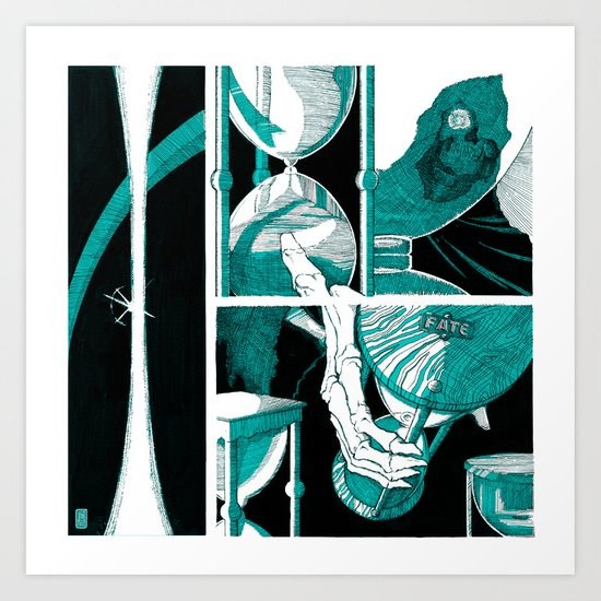 Fate (aquamarine v.01) Art Print