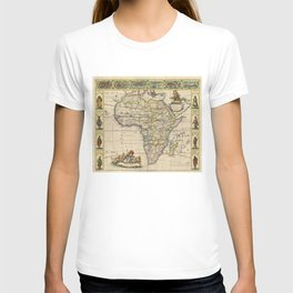 Vintage Map of Africa (1660)  T-shirt