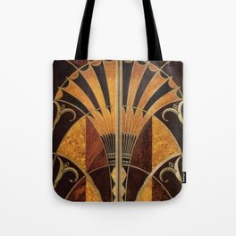 art deco wood Tote Bag