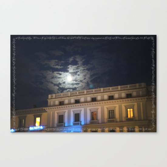the only celestial body Canvas Print