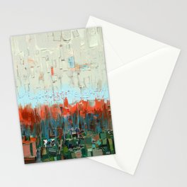White and Orange Stationery Cards