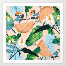 Summer Botanicals #illustration #pattern Art Print
