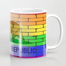 Gay Rainbow Wall California Flag Coffee Mug