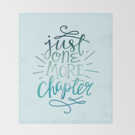 Book Worm One More Chapter Throw Blanket