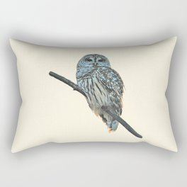 Barred Owl (beige) Rectangular Pillow