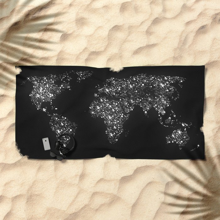 Tiny light spec in the great big universe Beach Towel
