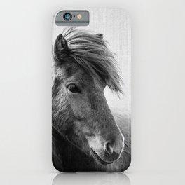 Horses - Black & White 6 iPhone Case
