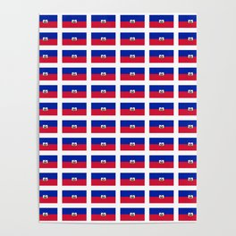 Flag of Haiti-haitan,haitien,port aux princes,cap haitien,carrefour,antilles. Poster