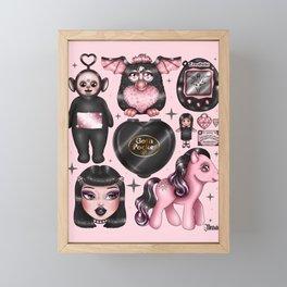 Vintage Goth Toys Framed Mini Art Print