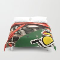 ducati Duvet Covers featuring Ducati Motor by Internal Combustion