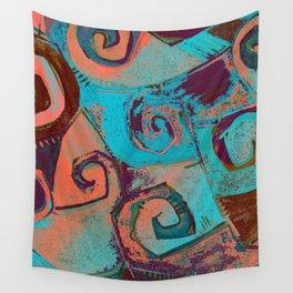 Square circles Wall Tapestry