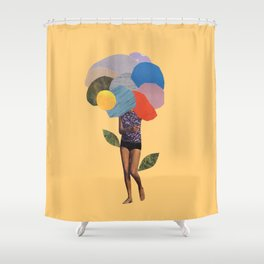 i dream of you amid the flowers Shower Curtain