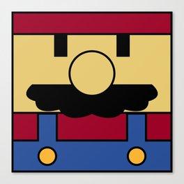 Minimal Mario Canvas Print