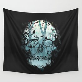 Dark Forest Skull Wall Tapestry