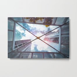 Looking up Sky Metal Print