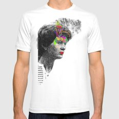 Mama White Mens Fitted Tee SMALL
