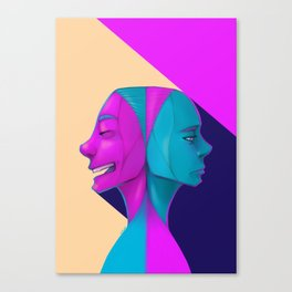 Duel of Face Canvas Print