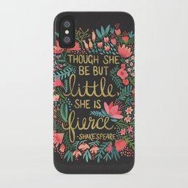 Little & Fierce on Charcoal iPhone Case