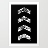cyrilliart Art Prints featuring Inverted Chevrons by Cyrilliart