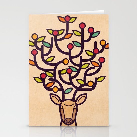One Happy Deer Stationery Cards