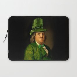St Patrick's Day for Lucky Ben Franklin Laptop Sleeve