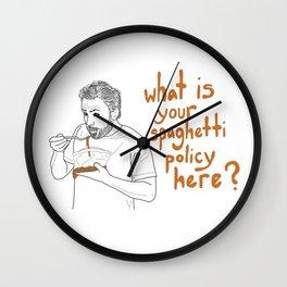 Charlie Kelly - Spaghetti Policy Wall Clock