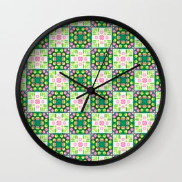 Spring Buds Origami Wall Clock