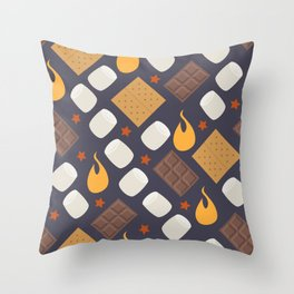 Smores on the Campfire Throw Pillow