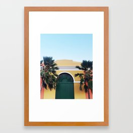 GREEN DOOR OF SAN JUAN Framed Art Print