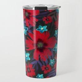 Carnations & Columbine Flowers Travel Mug