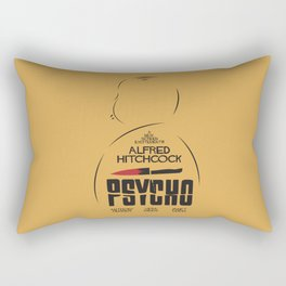 Psycho, Alfred Hitchcock, minimal movie poster, classic horror film, american cinema, thriller Rectangular Pillow