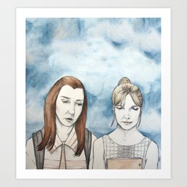 Willow and Buffy The Vampire Slayer Art Print