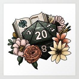 Dungeon Master D20 Tabletop RPG Gaming Dice Art Print