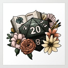 Dungeon Master D20 Tabletop RPG Gaming Dice Art Print